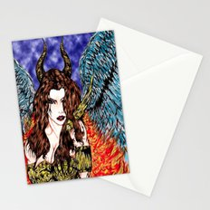 angel or demon in color Stationery Cards