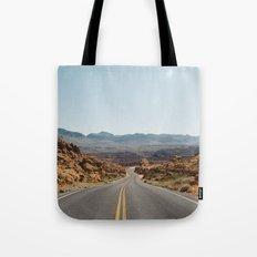 On the Desert Road Tote Bag
