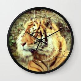 Blurred stripes Wall Clock