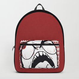 Troll Rage guy rageguy with fuuuuu in red Le Me Backpack
