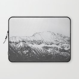 Black and White Snow-Capped Mountain Laptop Sleeve