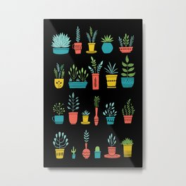 Party Cactus Bright Metal Print