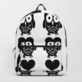 Big Owls And Hearts Backpack