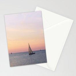 italian sailboats Stationery Cards