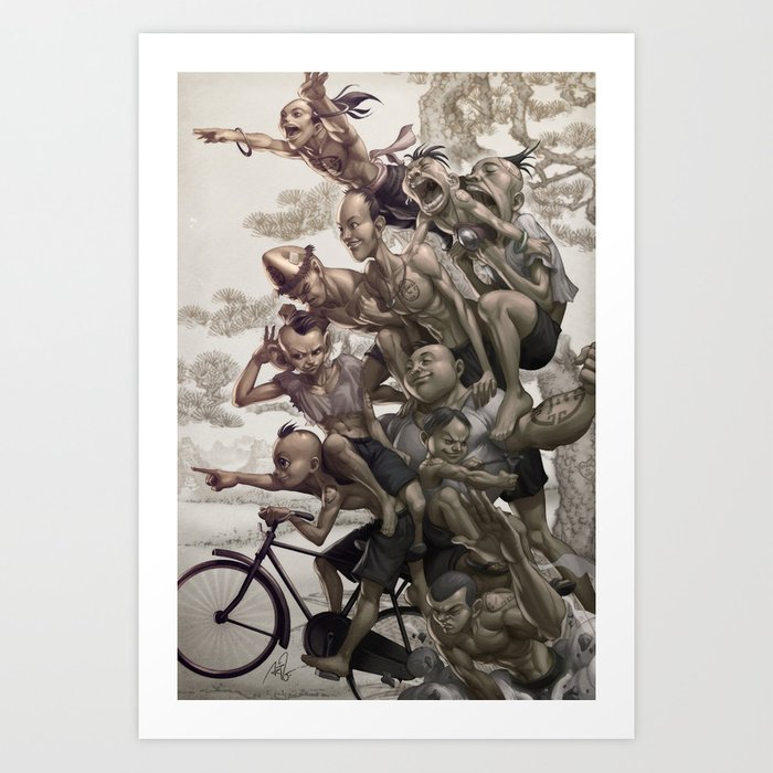 Discover the motif TEN BROTHERS by Stanley Artgerm Lau as a print at TOPPOSTER