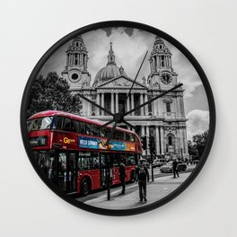 Red Bus London Wall Clock