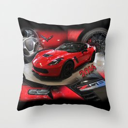 2016 corvette Z06 Throw Pillow