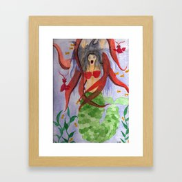 Mermaid Escape Framed Art Print