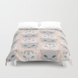 Aesthetics: abstract pattern-cats Duvet Cover