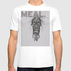 Last Meal SMALL White Mens Fitted Tee