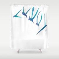 flight Shower Curtains featuring Flight by Dawn Patel Art