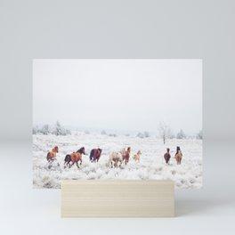 Winter Horses Mini Art Print