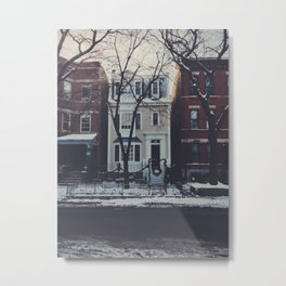 Snowy Chicago Metal Print
