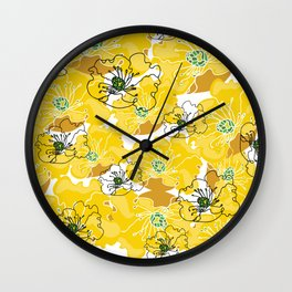 yellow marzipan flowers Wall Clock