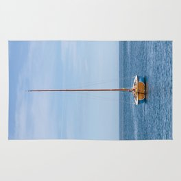 Simple sailboat Rug