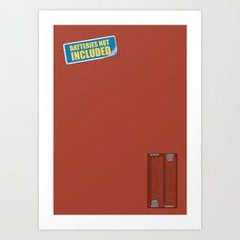 Batteries Not Included ~ Medium Carmine Art Print