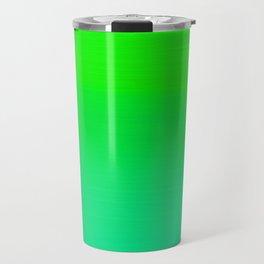 Lime Green and Sea Foam Green Ombre Travel Mug