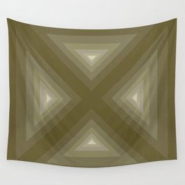 Quadrant from triangles in beige Wall Tapestry