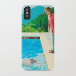 stand and swim people iPhone Case