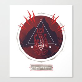Mountain of Madness (red) Canvas Print