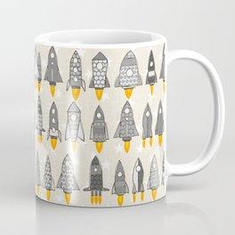 retro rockets mono Coffee Mug