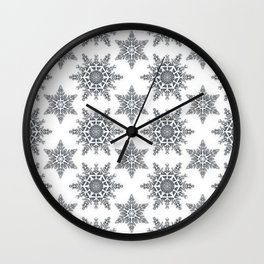 Snowflake pattern  Wall Clock