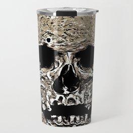 Full Skull With Rotting Flesh Vector Travel Mug