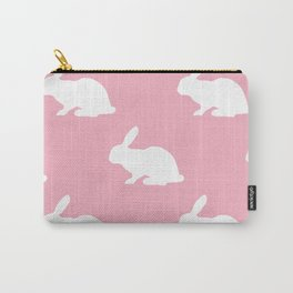 Bunny On Pink Carry-All Pouch