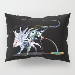 Rat and rainbow. multicolored on dark background - (Red eyes series) Pillow Sham