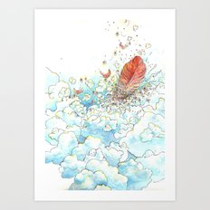 Feather Bed Art Print