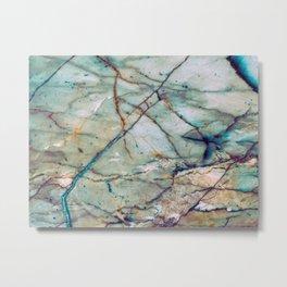 Azul Macaubas Marble Metal Print