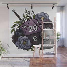 Fighter Class D20 - Tabletop Gaming Dice Wall Mural