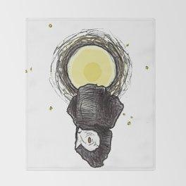 The Barn Owl Throw Blanket