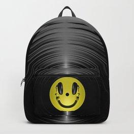 Vinyl headphone smiley Backpack