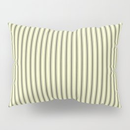 Mattress Ticking Narrow Striped Pattern in Dark Black and Cream Pillow Sham