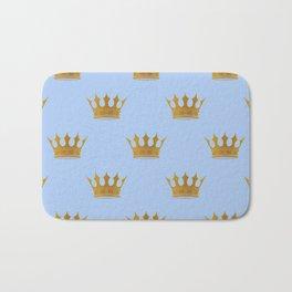 Louis Blue Gold Crown Prince of Cambridge Bath Mat