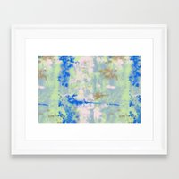tie dye Framed Art Prints featuring Tie Dye by Wendy Ding: Illustration