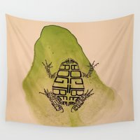 frog Wall Tapestries featuring Frog by Patrick Takata