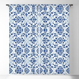 Azulejos Blackout Curtain