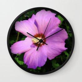 Rose OF Sharon In Mid Summer Wall Clock