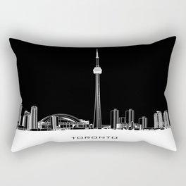 Toronto Skyline - White ground / Black Background Rectangular Pillow