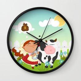 The milkmaid Wall Clock