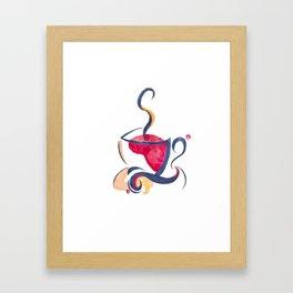 Watercolor Coffee Cup Framed Art Print