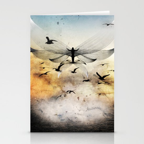 salute the morning Stationery Cards