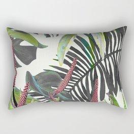 Watercolor Plants II Rectangular Pillow