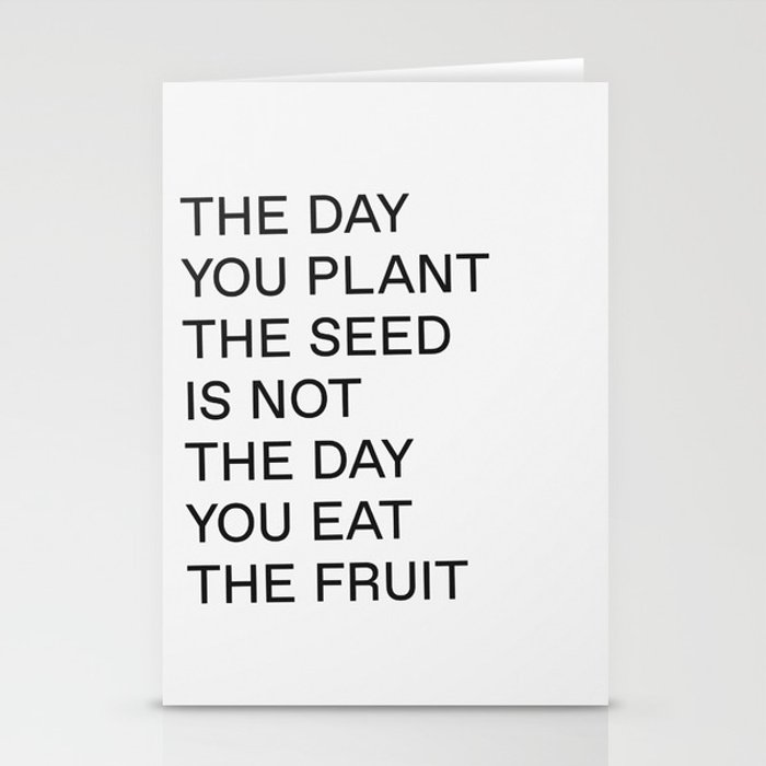 Plant The Seed Stationery Cards