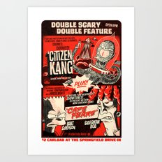 Double Scary Double Feature Art Print