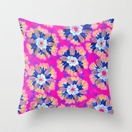 Pink Dakota Rose Throw Pillow