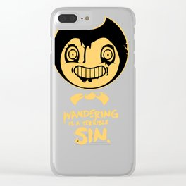 Wandering is a terrible sin. Clear iPhone Case