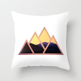 Mountain Pass Throw Pillow